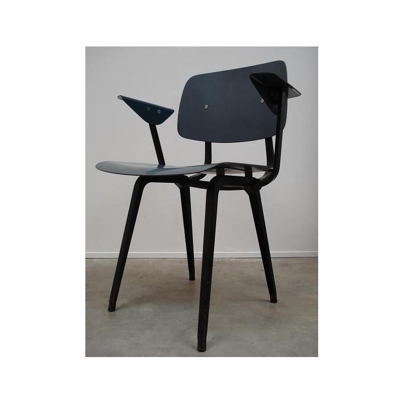 Friso Kramer first edition Revolt chair in blue