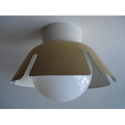 Fifties ceiling lamp yellow