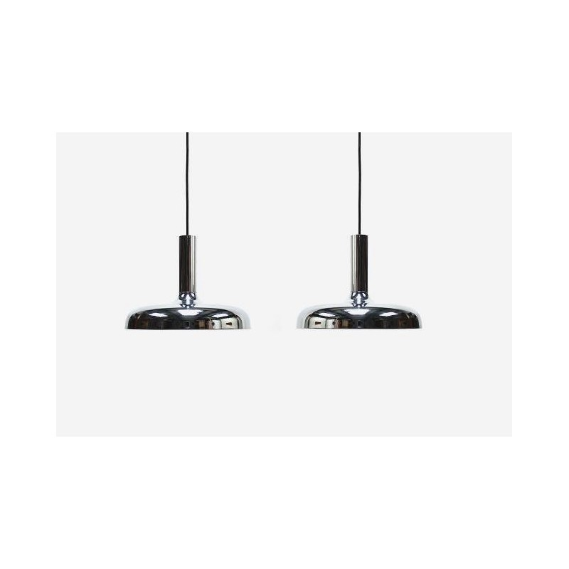 Set of 2 chrome lamps