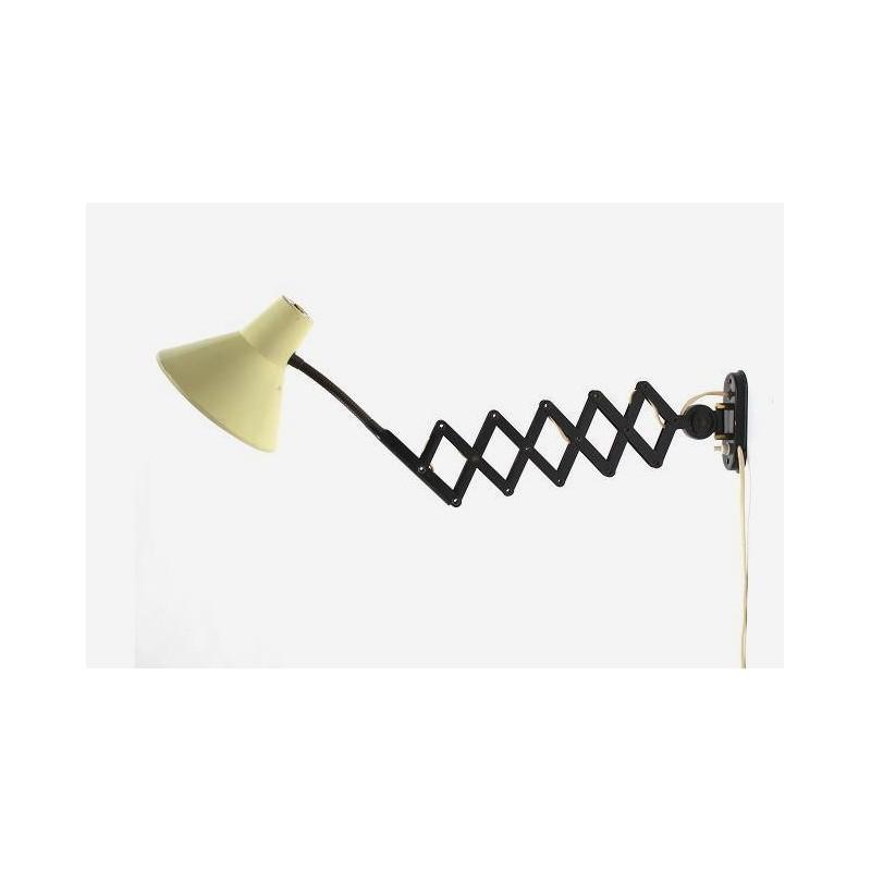 """Jaren 50 """"schaar"""" wandlamp"""