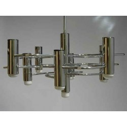Chromen vintage design hanglamp 6