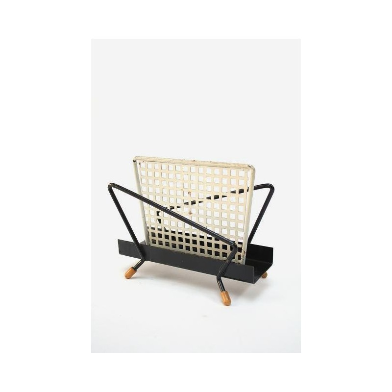 Fifties mail holder white/ black perforated
