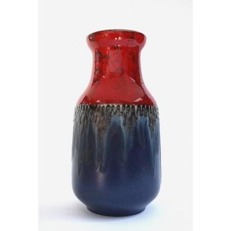 West-Germany vase red/ blue