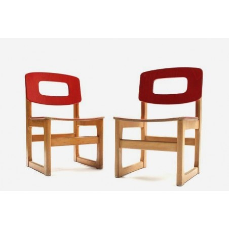 Set of 2 Hukit children's chairs