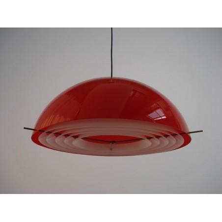 Plastic design hanglamp rood