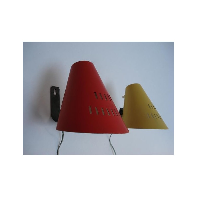 2 Design wall lamps from the fifties