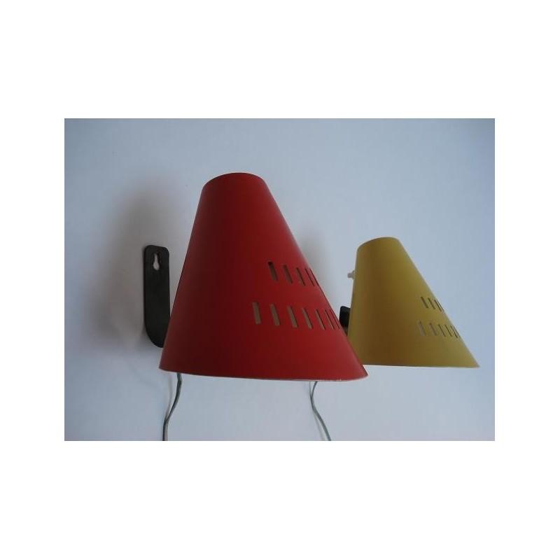 2 Design wandlampen uit de fifties