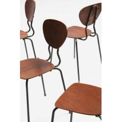 Set of 4 Danish school chairs