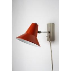 Wall lamp with orange shade