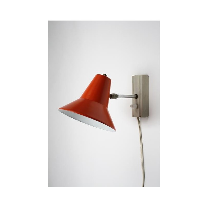 Wall lamp with orange shade