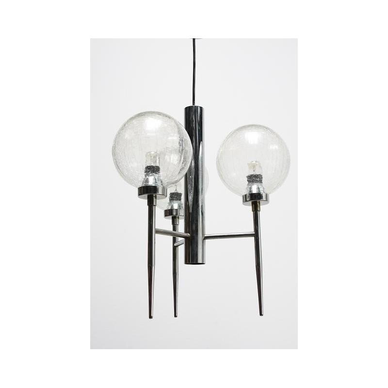 Chroom/ glazen hanglamp