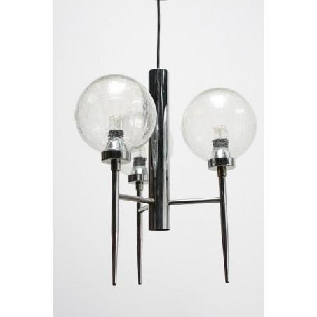 Chrome/ glass hanging lamp