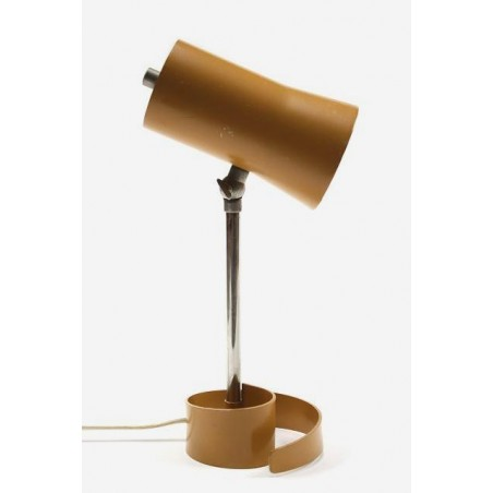 Table lamp on spiral base