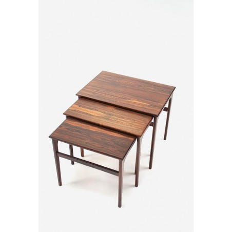 Set of 3 nesttables in rosewood