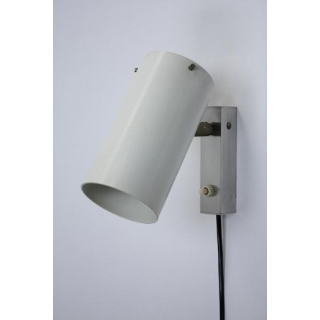 Witte modernistische wandlamp jaren 60