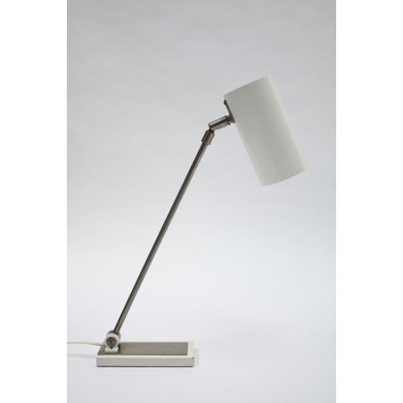 White modernistic tablel lamp from the 1960's