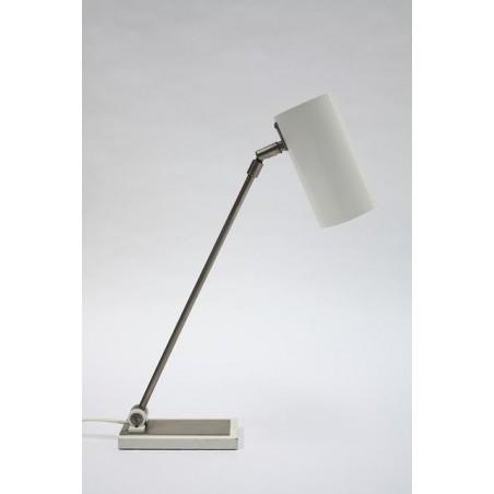 Witte modernistische tafellamp jaren 60
