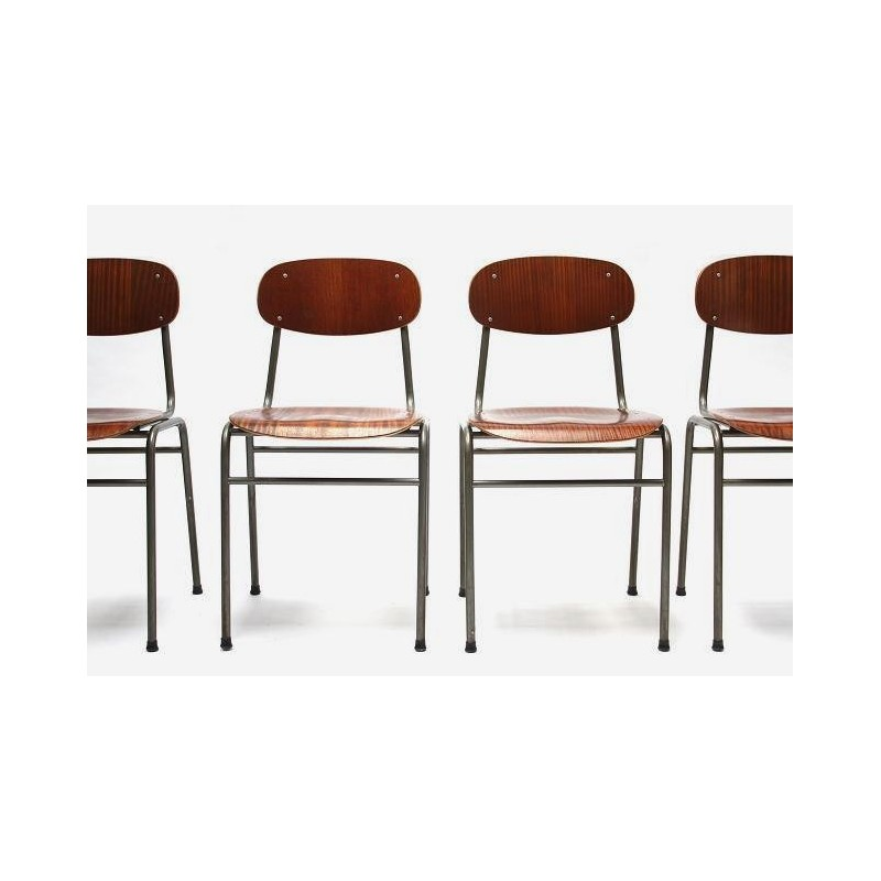 Set of 4 industrial chairs