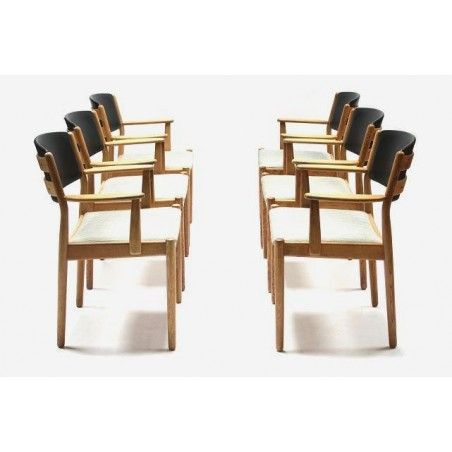 Set of 6 chairs in oak-wood by Poul Volther