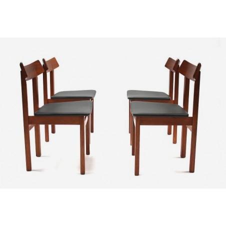 Set van 4 Slagelse Mobelvaerk stoelen
