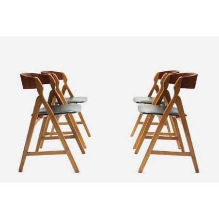 Set of 4 Danish chairs by H. Kjaernulf