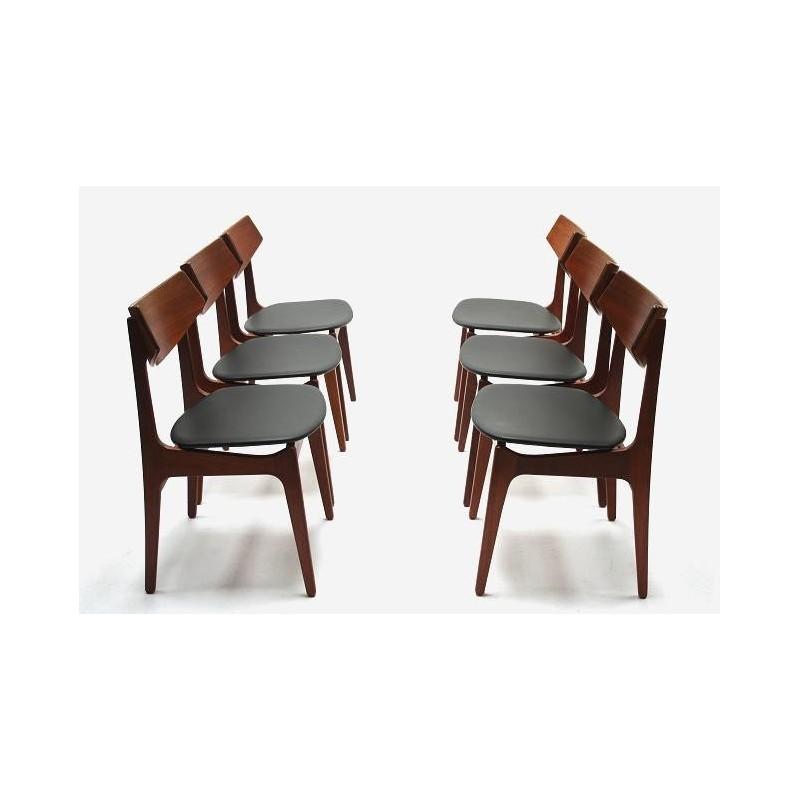 Set van 6 Funder-Schmidt & Madsen stoelen