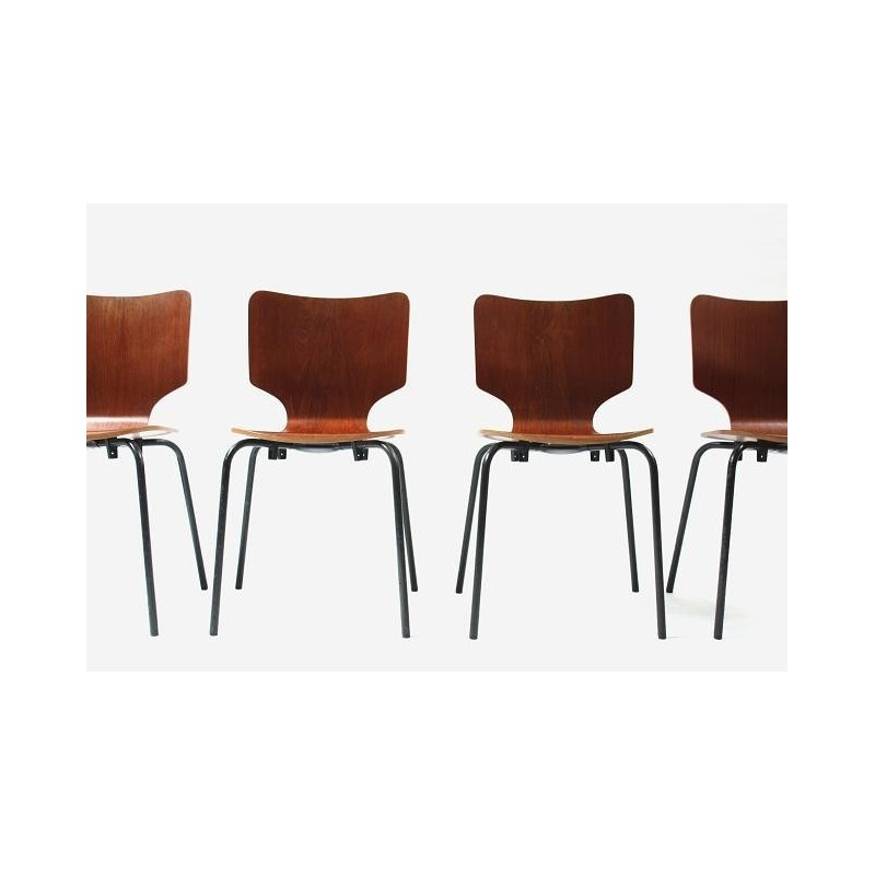 Set of 4 chairs by DUBA