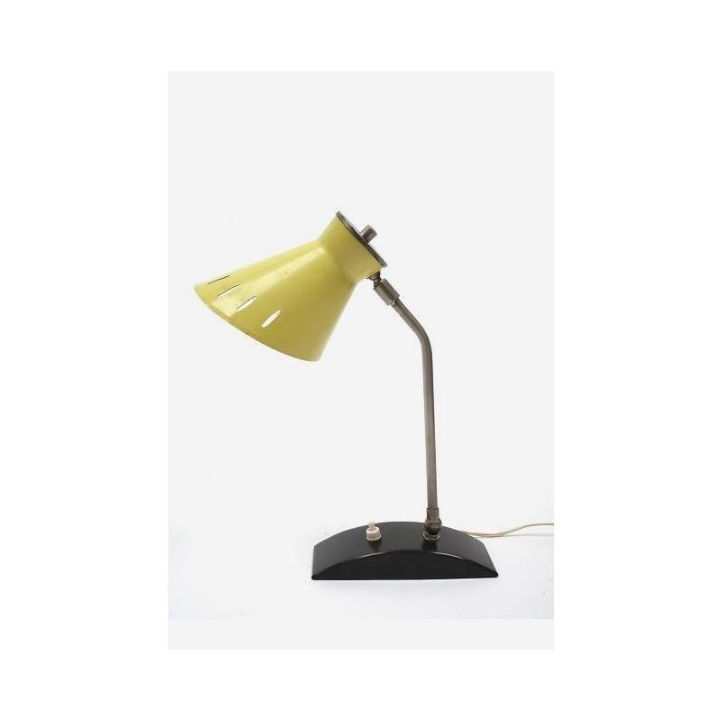 Gele tafellamp jaren 60