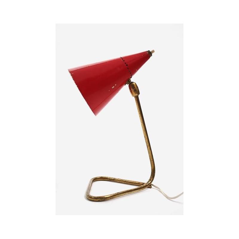 Tafellamp jaren 50 rood