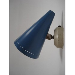 Fifties wall lamp blue
