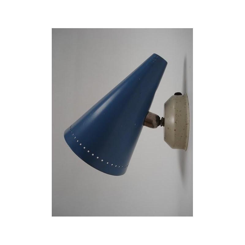 Fifties wandlamp blauw