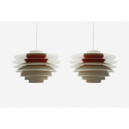 Vintage Verona hanglampen Svend Middelboe set van 2
