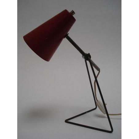 Tafellamp 1950's rood