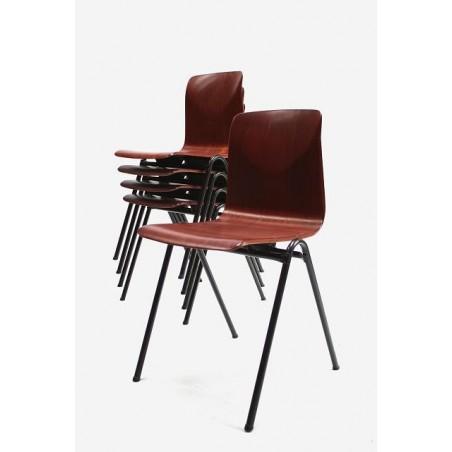 Set van 5 Pagholz industriele stoelen