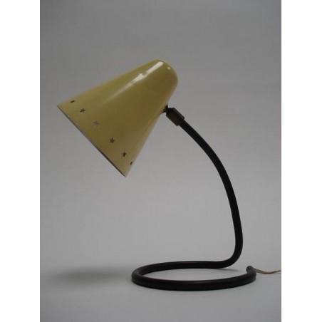 Gele fifties tafellamp