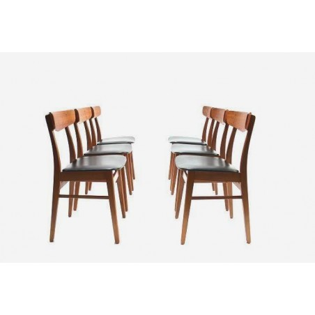 Set of 6 Danish dinner chairs in teak no.2