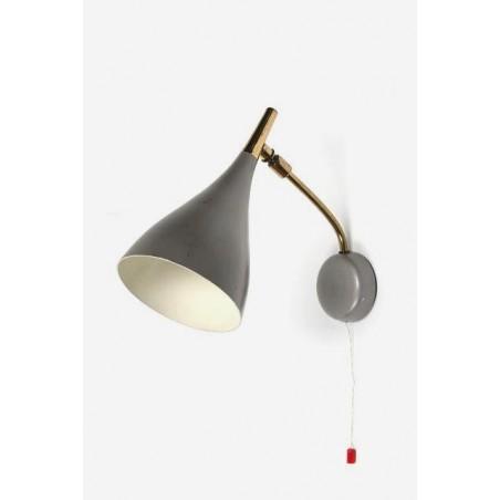 Jaren 50 wandlamp grijs
