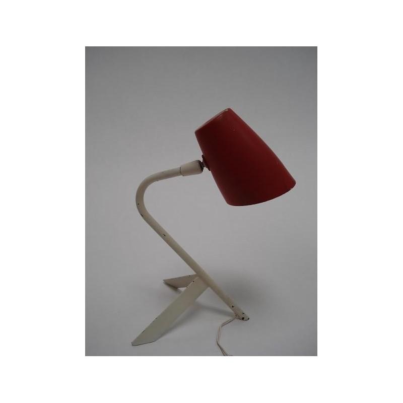 Rood/wit 1950's tafellampje