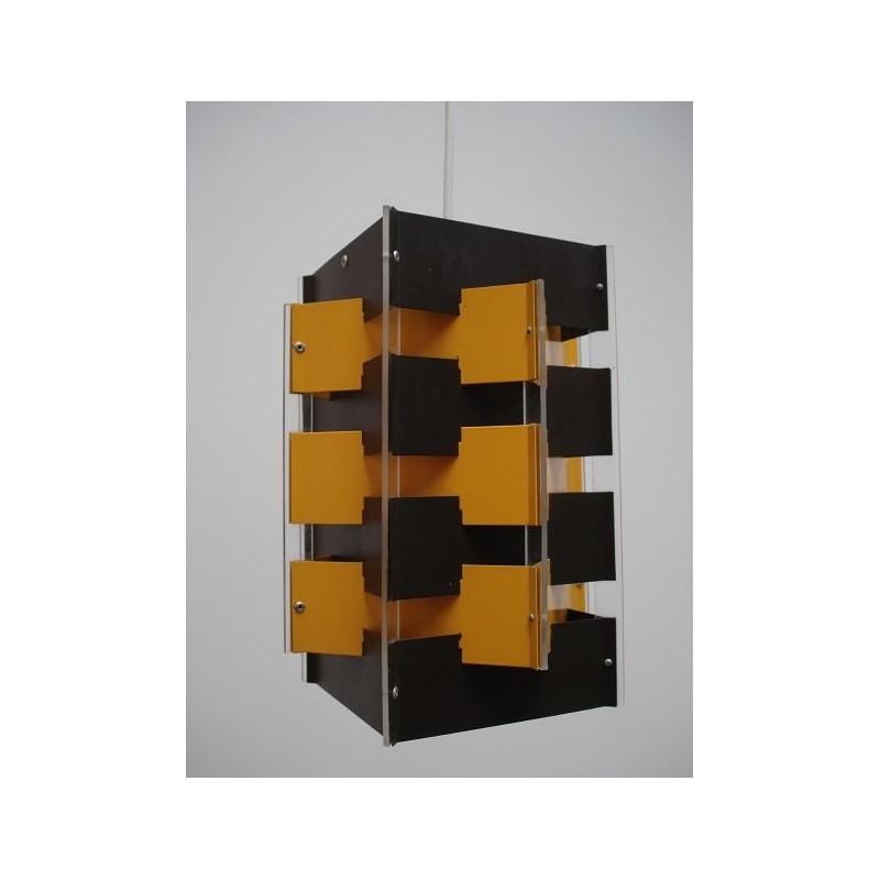 Anvia hanglamp kubistisch bruin/geel