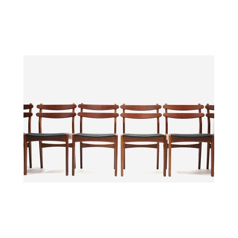 Set of 6 dinner chairs in teak