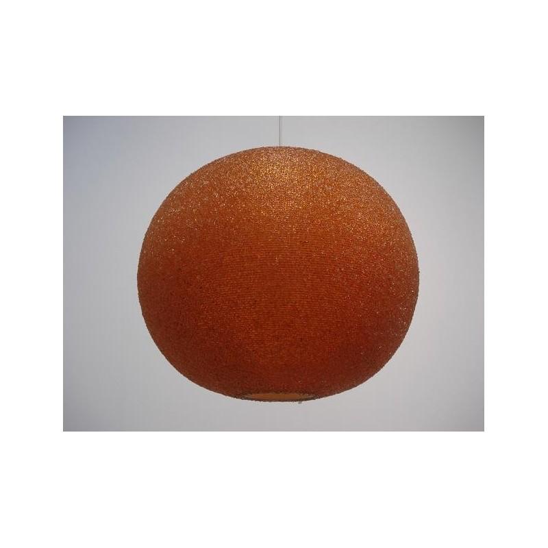 Sugar-like hanging lamp orange