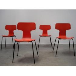 Arne Jacobsen Grand Prix chairs 3130 set of 4