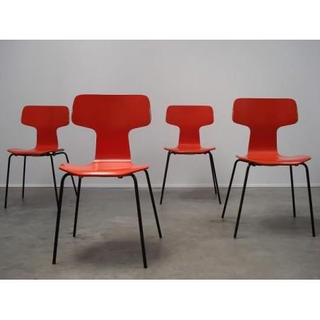 Arne Jacobsen Grand Prix stoelen 3130 set van 4
