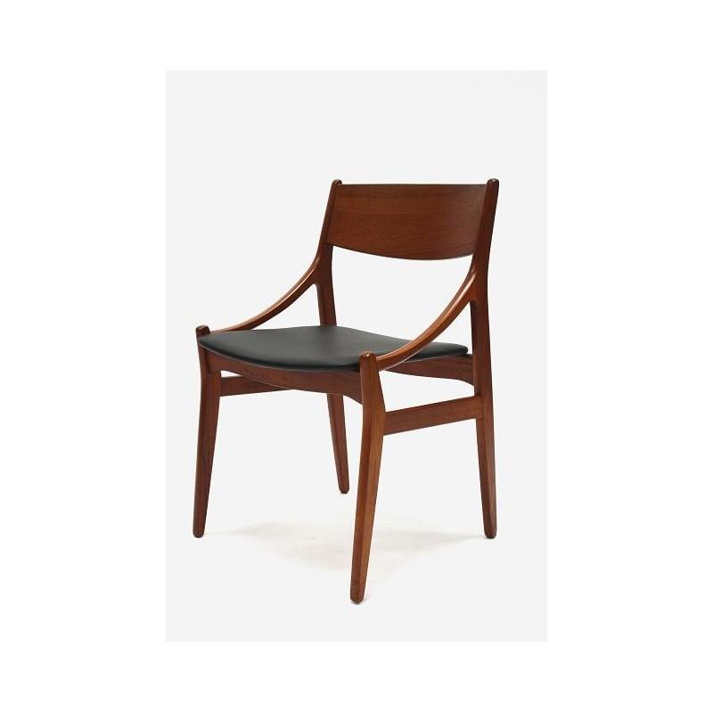 Scandinavische stoel van teakhout