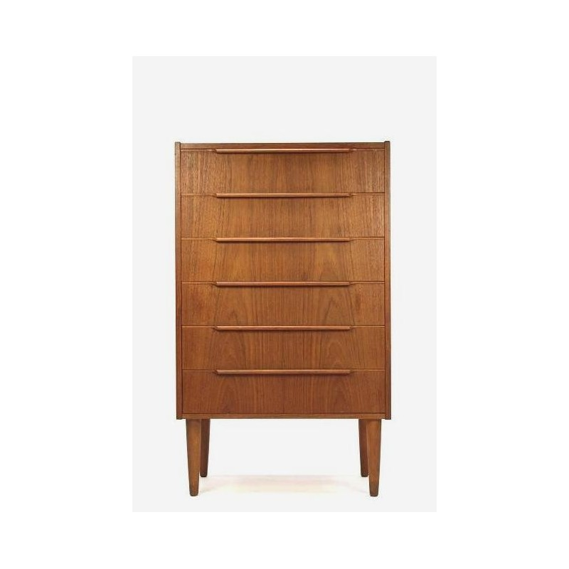 Chest of drawers in teak vintage 1960s