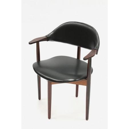 Palissander houten bureaustoel