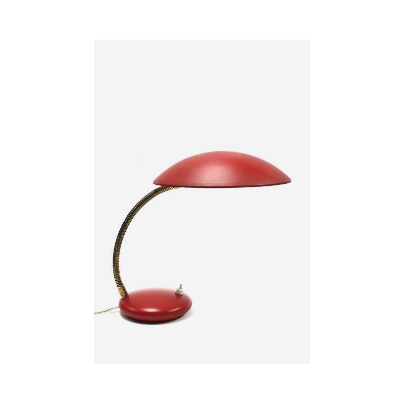 Red table-/desk lamp from Hala