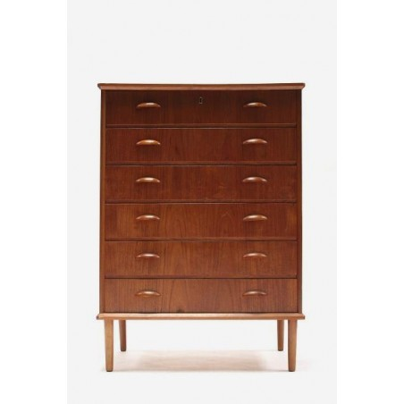 Chest of drawers in teak