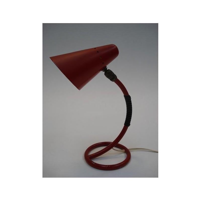 50's tafellamp rood
