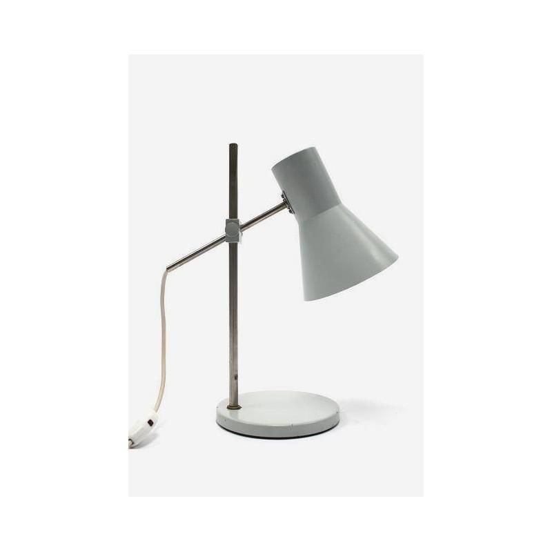 Grijze industriele bureaulamp